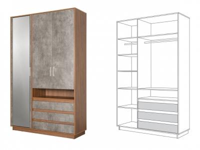 Шкаф для одежды 10.72 Леон