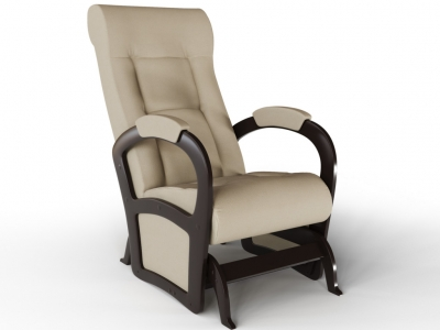 Кресло-качалка Мартин-глайдер экокожа крем