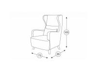 Кресло для отдыха Меланж ТК 05