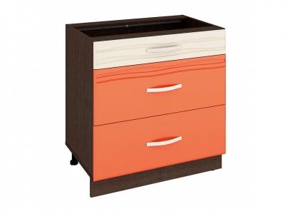 Стол с 3 ящиками - метабоксы 09.67 Оранж 800х530х820