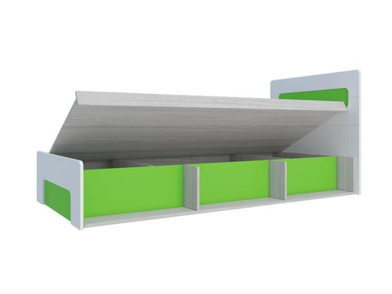 Кровать с подъемным механизмом Палермо-Юниор зеленая вставка 960х900х2048 мм