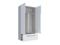 Шкаф 2-х створчатый с ящиками Палермо-Юниор синяя вставка 1068х2110х445 мм