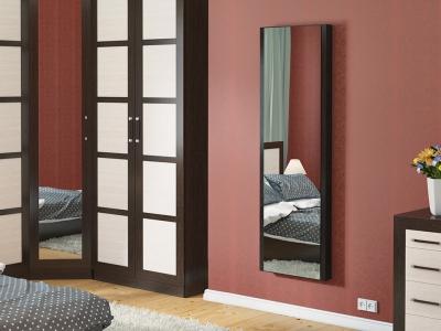 Панель с зеркалом со встроенной гладильной доской Тип-1 ТД 901.16 Венге Цаво