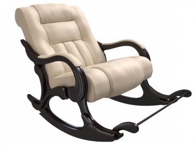 Кресло-качалка Родос экокожа крем