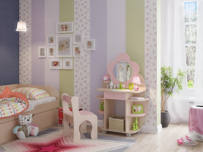 Стол детский Ромашка розовый
