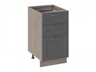 Шкаф напольный с 3 ящиками Н3Я_72-45_3Я Одри Серый шелк