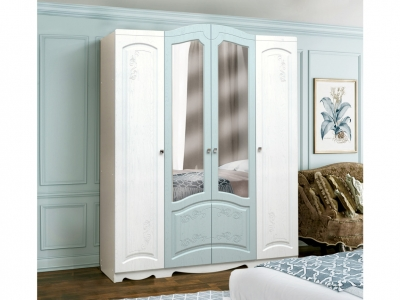 Шкаф 4-х дверный с 2-мя зеркалами Венеция 4