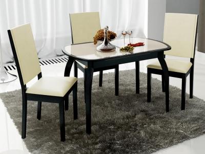Стол обеденный раздвижной Ницца СМ-217.01.15 Венге, стекло с рисунком