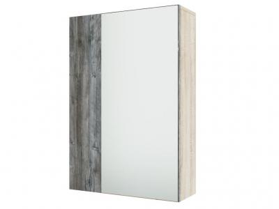 Шкаф с зеркалом навесной Визит 1 550х800х174 Дуб Сонома/Сосна Джексон